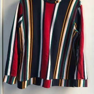 Pacsun Men'a Striped Colored Crewneck